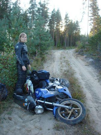 CB500 à terre, Finlande 2009